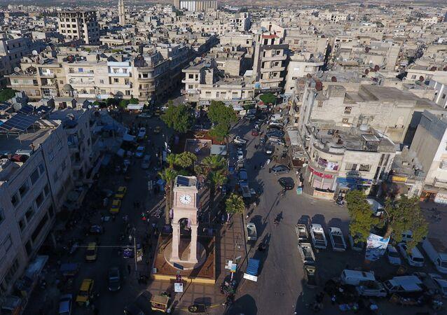 Vista aérea da província de Idlib, na Síria (arquivo)
