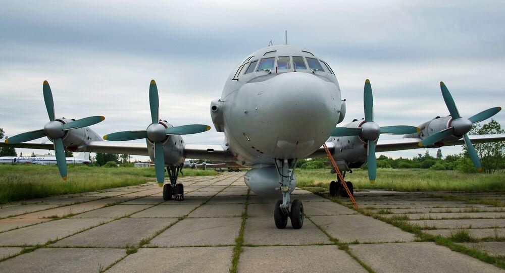 Avião militar russo Ilyshin-20 (foto de arquivo)
