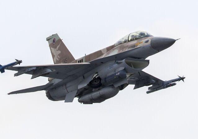 Caça F-16 D da Força Aérea de Israel (arquivo)