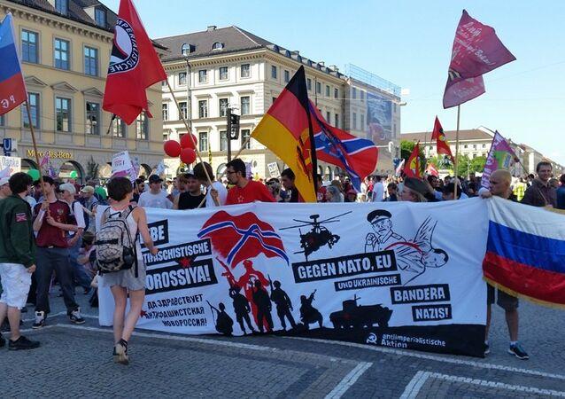 Marcha anti-G7 na Baviera.