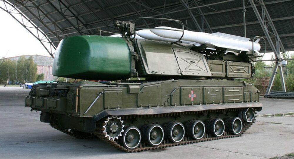 Sistema ucraniano de mísseis Buk-M1 (foto de arquivo)