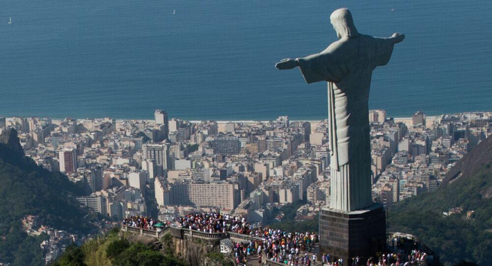 A estátua do Cristo Redentor no Rio de Janeiro