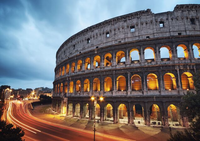 O Coliseu na cidade italiana de Roma