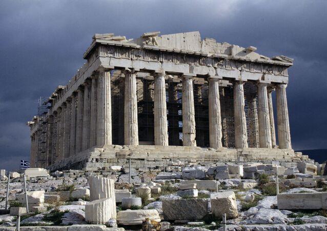O Partenon de Athenas, o mais conhecido dos edifícios da Grécia Antiga