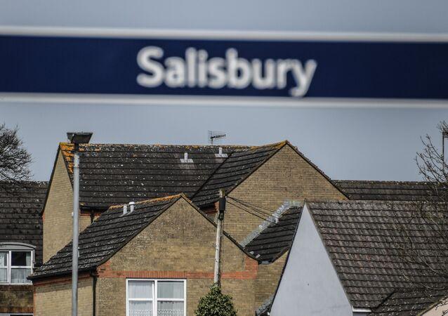 Cidade britânica de Salisbury, onde Sergei Skripal e sua filha foram envenenados
