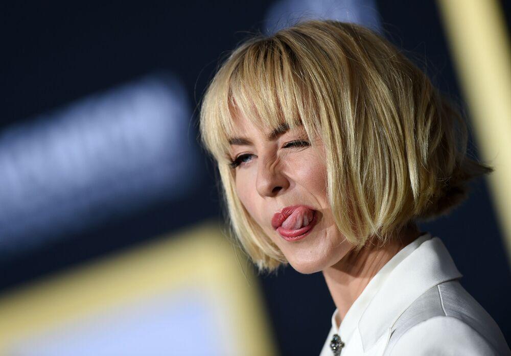 Atriz Julianne Hough durante a estreia do filme Nasce uma Estrela em Los Angeles.
