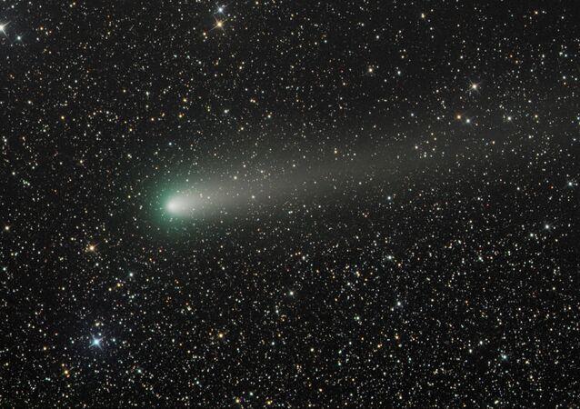 Cometa 21P gravado no momento exato de sua aproximação máxima do Sol nos últimos 72 anos (imagem referencial)