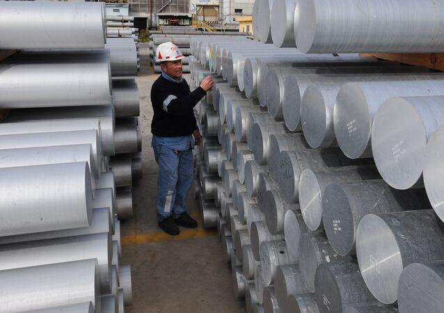 Uma fábrica de alumínio