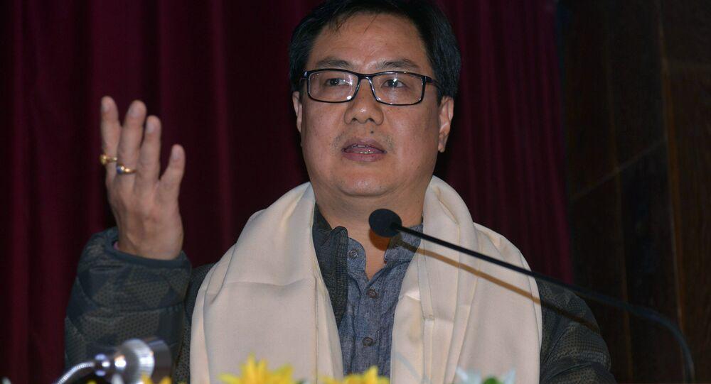 Ministro de Estado da União Indiana para Assuntos Domésticos, Kiren Rijiju (Arquivo)