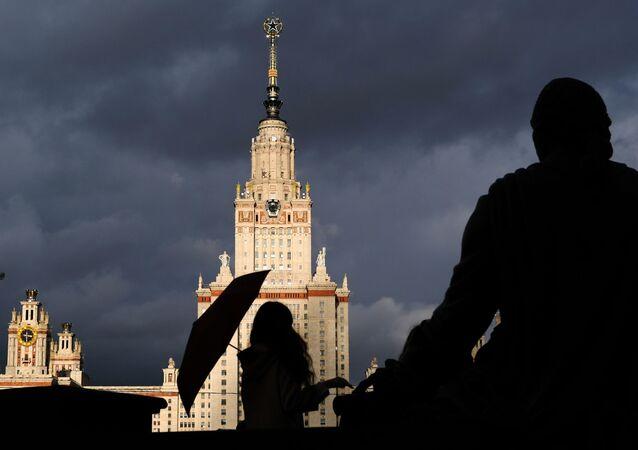 Edifício principal da Universidade Estatal de Moscou Lomonosov