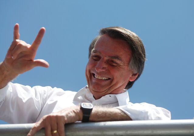 Jair Bolsonaro, candidato à Presidência do Brasil, participa de um comício perto de Brasília, em 5 de setembro de 2018