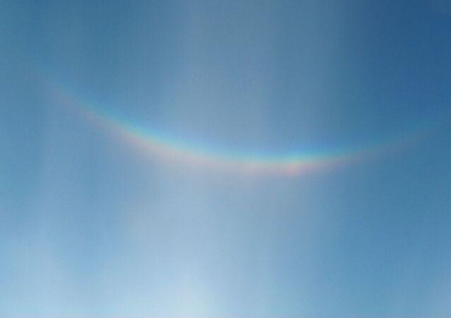 Arco-íris dando um belo sorrisão (imagem referencial)