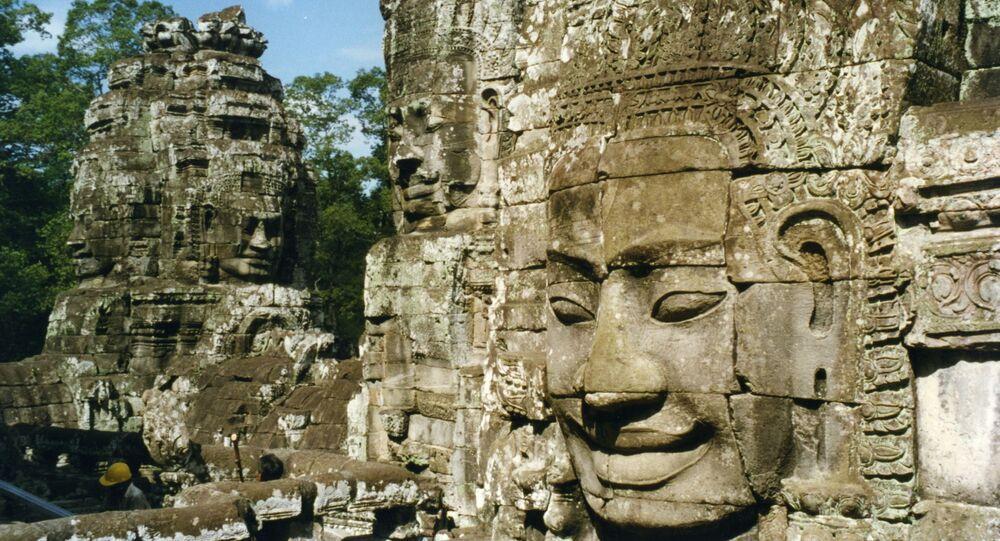 Ruínas na região de Angkor, Camboja.