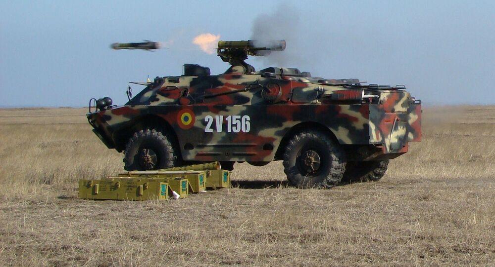 Veículo 9P148 das Forças Armadas da Romênia (foto de arquivo)