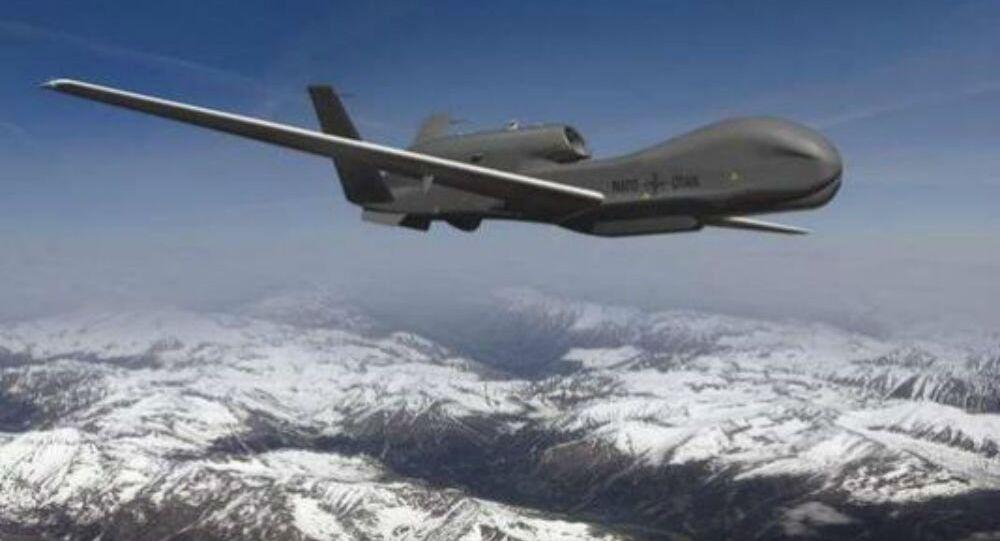 Drone RQ-4 Global Hawk da Força Aérea dos EUA