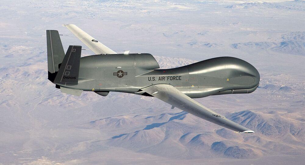 Drone americano RQ-4 Global Hawk (foto de arquivo)