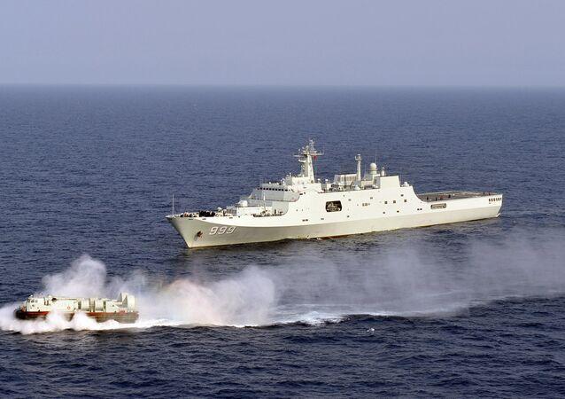 Navios da marinha chinesa