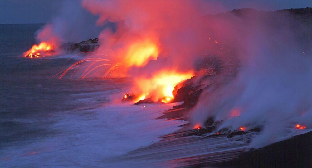 Vulcão Kilauea no Parque Nacional dos Vulcões, no Hawaii (foto de arquivo)