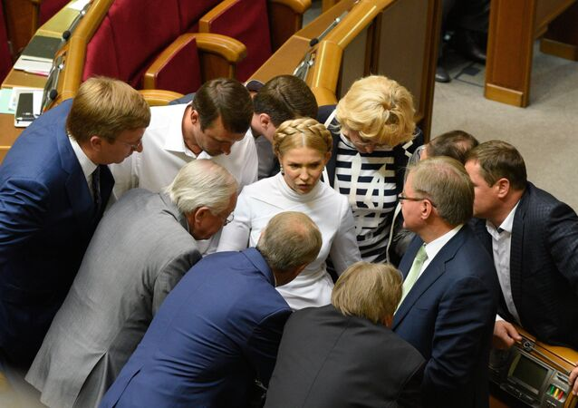 Yulia Tymoshenko during a meeting of the Verkhovna Rada of Ukraine in Kiev (File)