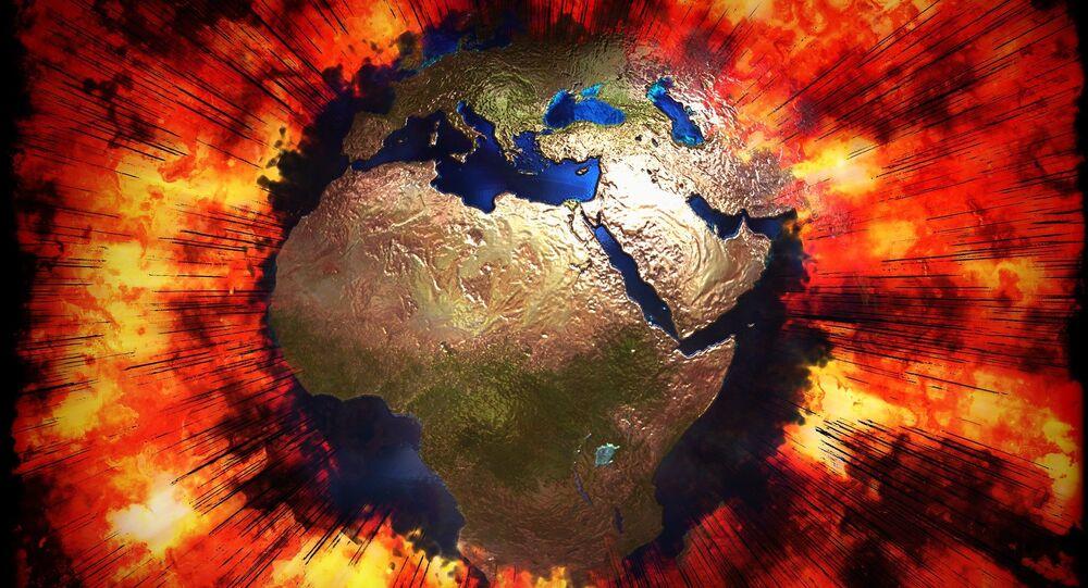A Terra afetada por uma explosão (imagem ilustrativa)