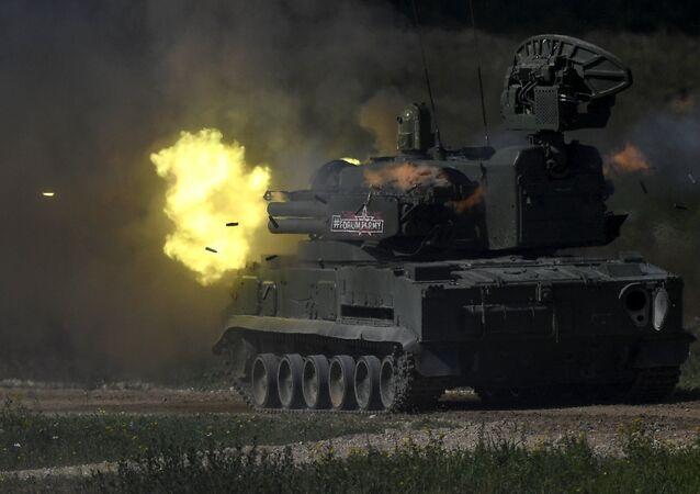 Sistema de defesa antiaérea russo Shilka M-4