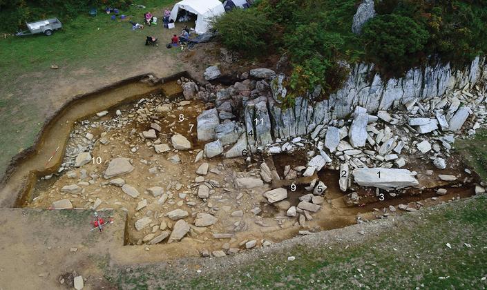Pedreira no País de Gales de onde foram extraídas as pedras azuis para construir a parte interior de Stonehenge