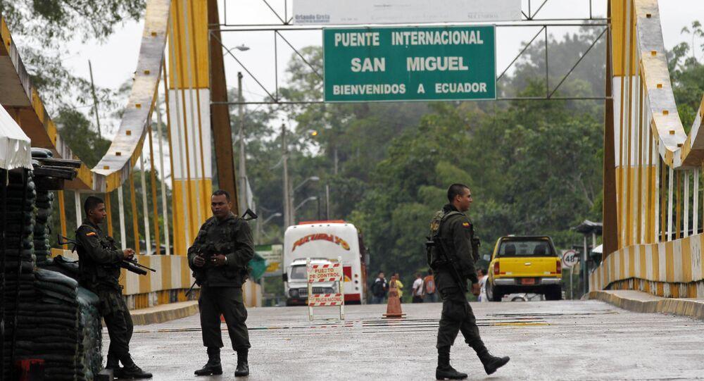 Fronteira entre Equador e Colômbia