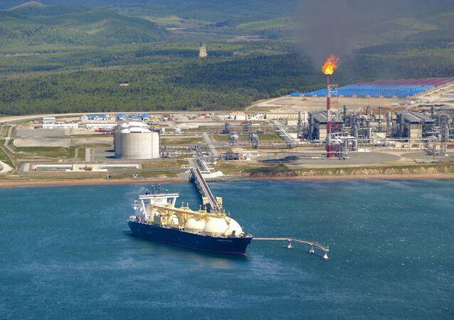 Produção de gás liquefeito na Rússia, na ilha de Sacalina (foto de arquivo)