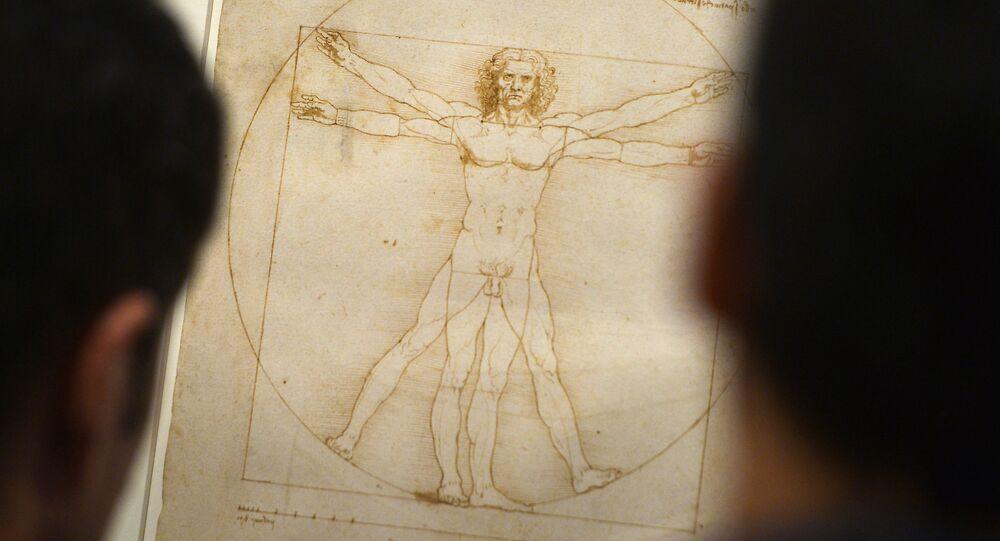 O Homem Vitruviano de Leonardo da Vinci