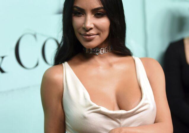 Kim Kardashian aparece na apresentação da nova coleção de joias da casa Tiffany & Co, em Nova York, em 9 de outubro de 2018