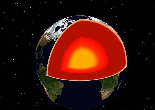 Núcleo da Terra (imagem ilustrativa)