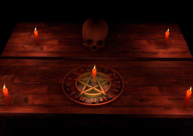 Ritual de magia negra (imagem referencial)