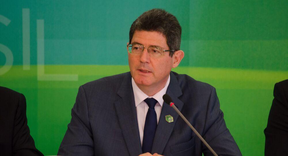 O ministro da Fazenda, Joaquim Levy, em entrevista ao Blog do Planalto, após o anúncio da segunda fase do Programa de Investimento em Logística (PIL)