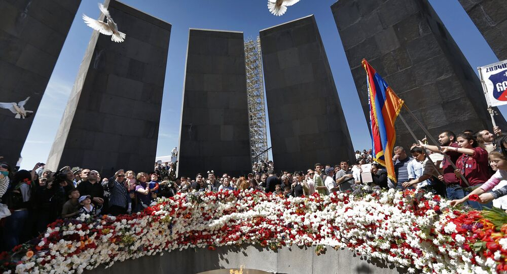Memorial do Genocídio Armênio em Erevan, capital da Armênia