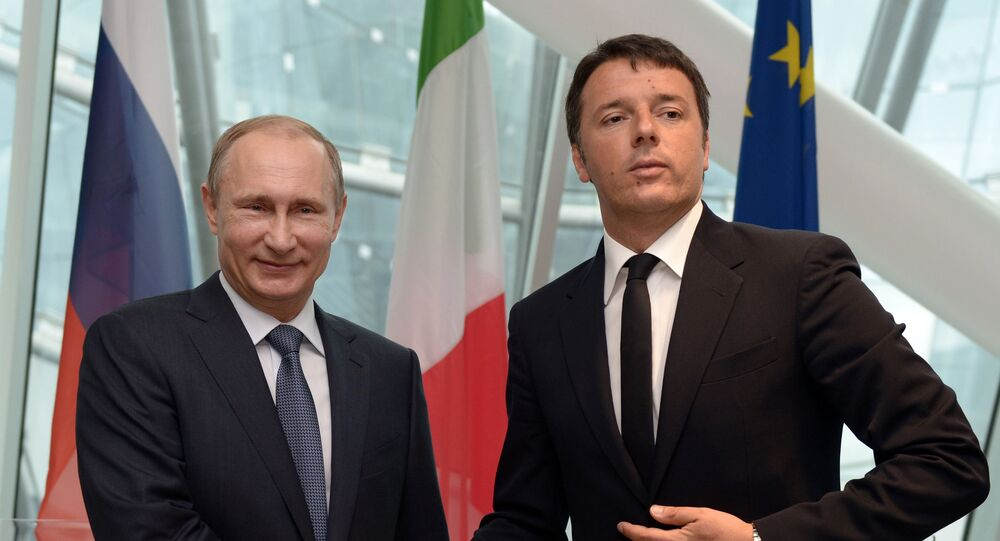 Putin e Renzi na Expo 2015