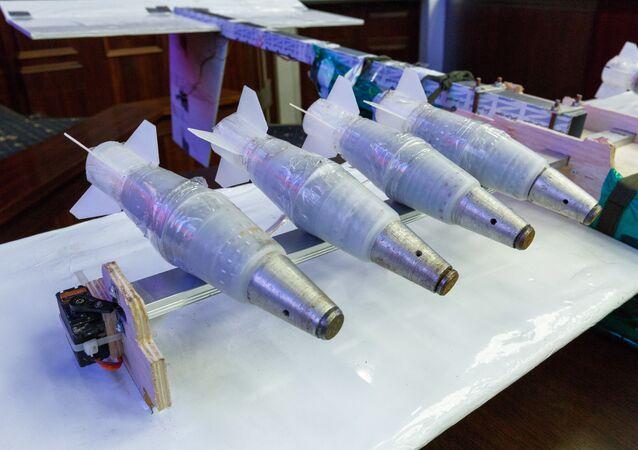 Drones encontrados perto da base aérea russa de Hmeymim na Síria