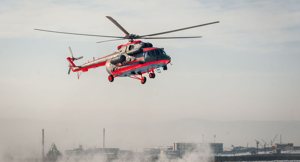 Voos de teste do helicóptero Mi-8AMTSH-VA da versão ártica (foto de arquivo)