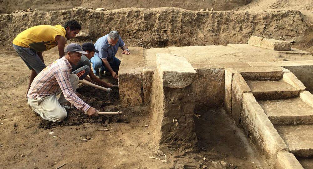 Salão de festas do faraó Ramsés II descoberto no Egito