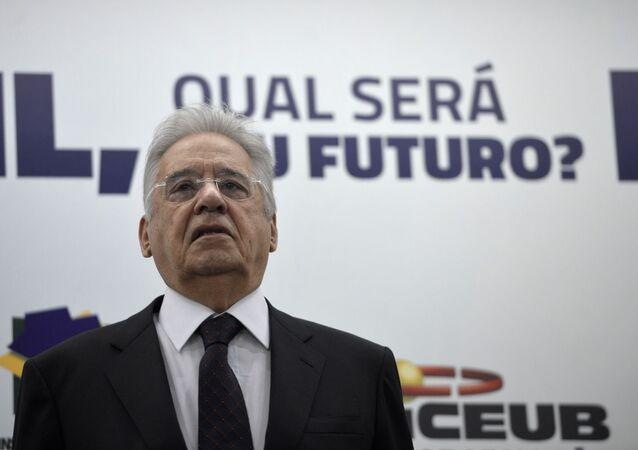 O ex-presidente Fernando Henrique Cardoso durante a palestra Brasil, Qual Será o Seu Futuro? (foto de arquivo)