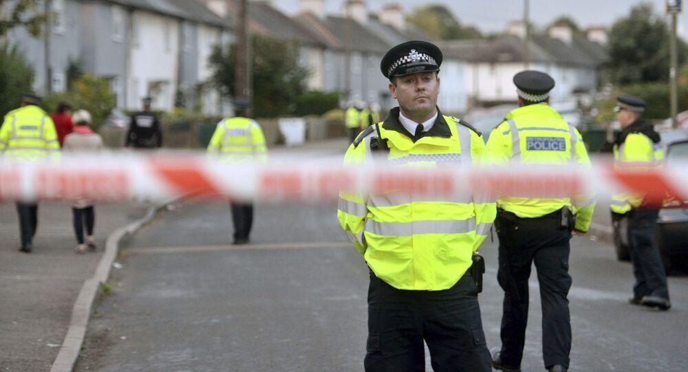 Policiais em Londres