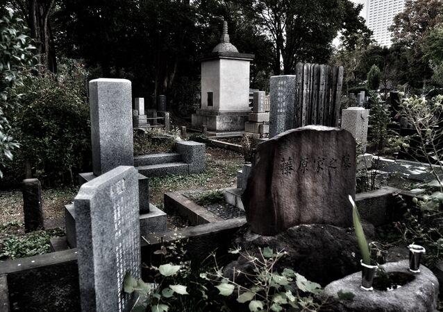 Cemitério Zoshigaya – um do maiores em Tóquio, Japão