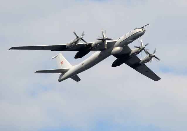 A TU-142 anti-submarine aircraft. File photo