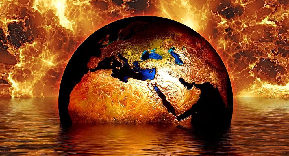 Terra em chamas (imagem referencial)