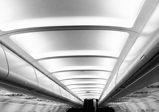 Salão de um avião (imagem ilustrativa)
