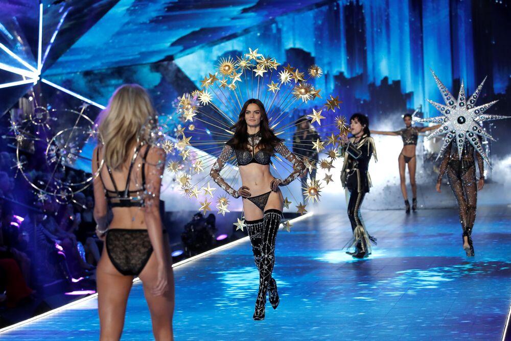 Anjinhas da Victoria's Secret durante evento anual, em 8 de novembro de 2018, em Nova York