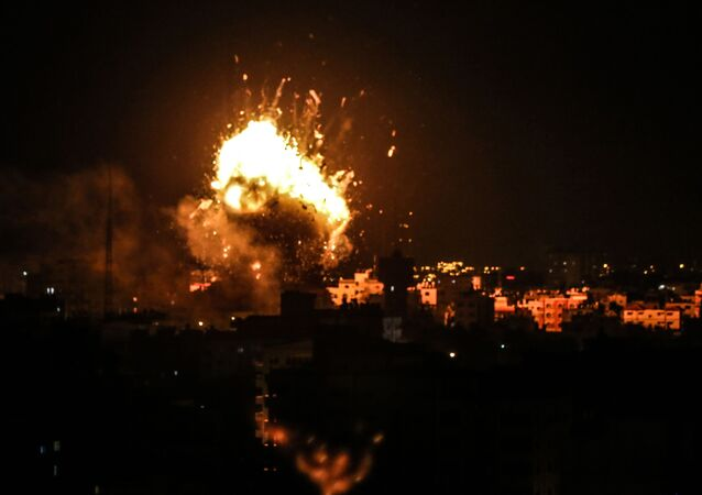 Ataque israelense com mísseis à Faixa de Gaza (arquivo)