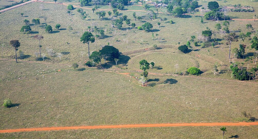 Geoglifo de mais de 2 mil anos, no estado do Acre, Brasil