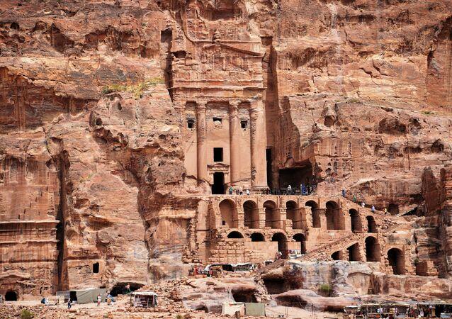 Cidade história de Petra, na Jordânia