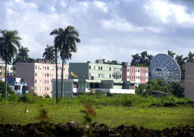 Centro russo de inteligência radioeletrônica em Lourdes, Cuba, 17 de outubro de 2001