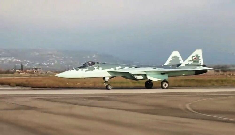 Novo caça Su-57 na Síria